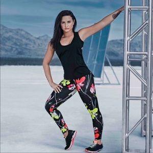 Fabletics Demi Lovato Floral Leggings Size Small